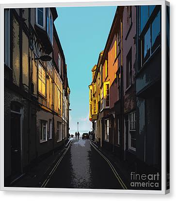 Street With A View Canvas Print by Bedros Awak