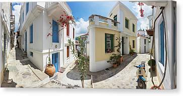 Streets Of Skopelos Canvas Print by Evgeni Dinev