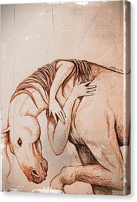 Strength And Affection Canvas Print by Paulo Zerbato