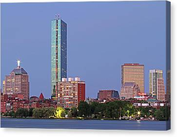 Striking Architecture Of The Boston Back Bay Canvas Print by Juergen Roth