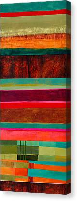 Stripe Assemblage 1 Canvas Print by Jane Davies
