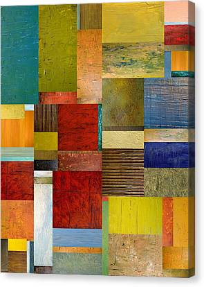Strips And Pieces L Canvas Print by Michelle Calkins