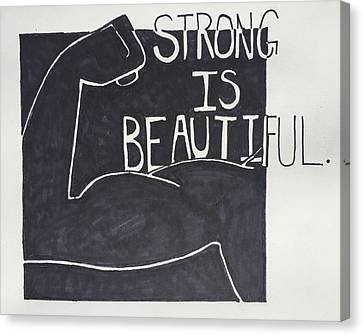 Strong Canvas Print by Sara Young