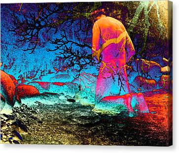 Struck By Enlightening Canvas Print by Choco Friedrich