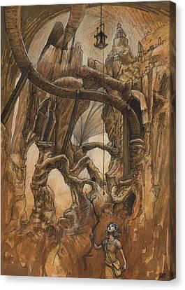 Strunk Cavern Canvas Print by Ethan Harris