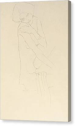 Study For Adele Bloch Bauer II Canvas Print by Gustav Klimt
