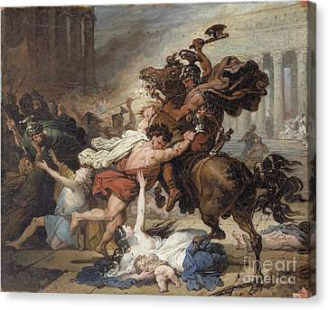 Study For Destruction Of Jerusalem By The Romans Canvas Print by Celestial Images