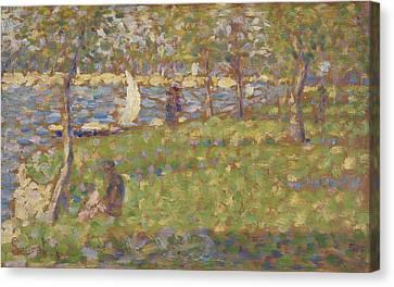 Study For La Grande Jatte Canvas Print by Georges Pierre Seurat