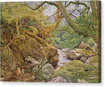 Study From Nature, Inveruglas, 1857 Canvas Print by Joseph Noel Paton