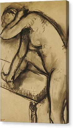Study Of A Dancer Canvas Print by Edgar Degas