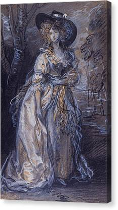 Study Of A Lady Canvas Print by Thomas Gainsborough