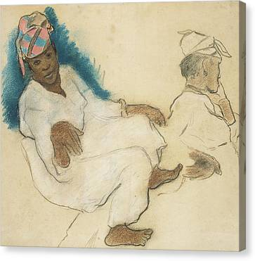Study Of Martinique Women Canvas Print by Paul Gauguin