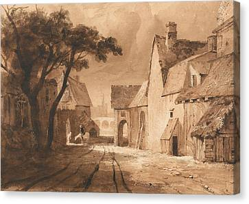 Study Of Old Buildings Canvas Print by Samuel Palmer