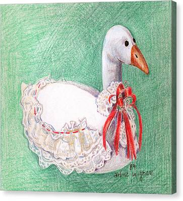 Stuffed Goose Canvas Print by Arline Wagner