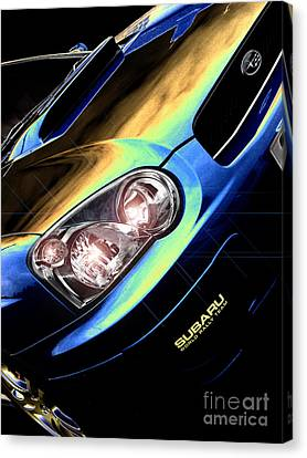 Subaru Impreza  Canvas Print by Nigel Bangert
