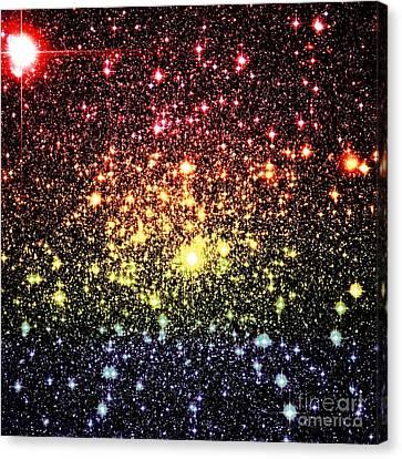 Subtle Rainbow Galaxy Stars Canvas Print by Johari Smith