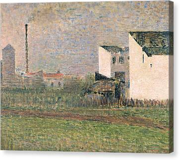 Suburb Canvas Print by Georges Pierre Seurat