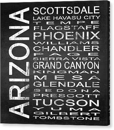 Subway Arizona State Square Canvas Print by Melissa Smith