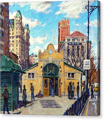 Subway At 72nd Street Nyc Canvas Print by Thor Wickstrom
