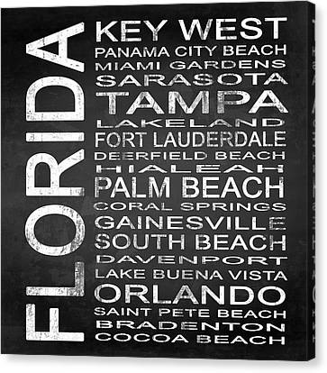 Subway Florida State 3 Square Canvas Print by Melissa Smith