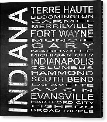 Subway Indiana State Square Canvas Print by Melissa Smith