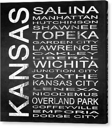 Subway Kansas State Square Canvas Print by Melissa Smith