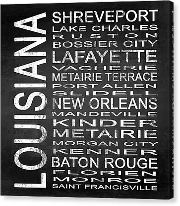 Subway Louisiana State Square Canvas Print by Melissa Smith