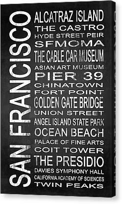 Subway San Francisco 1 Canvas Print by Melissa Smith