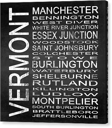 Subway Vermont State Square Canvas Print by Melissa Smith