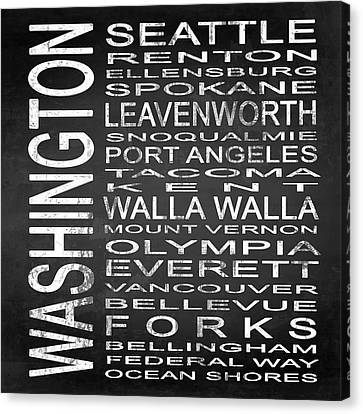 Subway Washington State Square Canvas Print by Melissa Smith