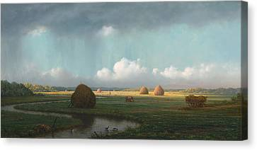 Sudden Shower - Newbury Marshes Canvas Print by Mountain Dreams