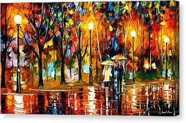 Sudden Sparks - Palette Knife Oil Painting On Canvas By Leonid Afremov Canvas Print by Leonid Afremov