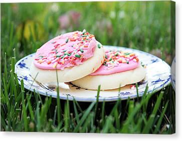 Sugar Cookies With Sprinkles Canvas Print by Linda Woods