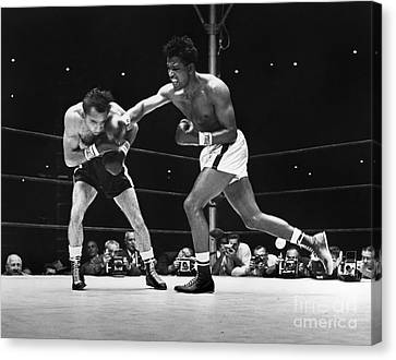 Sugar Ray Robinson Canvas Print by Granger