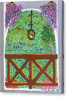 Sugarbird Feeding Canvas Print by Margaret Brooks
