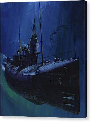 Suicide Subs Canvas Print by Wilf Hardy