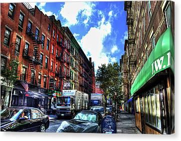 Sullivan Street In Greenwich Village Canvas Print by Randy Aveille