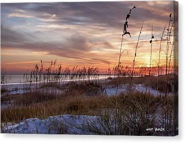 Sullivan's Island Sunset Canvas Print by Walt  Baker
