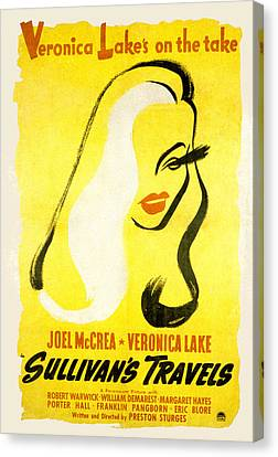 Sullivans Travels, Veronica Lake Canvas Print by Everett