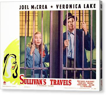 Sullivans Travels, Veronica Lake, Joel Canvas Print by Everett