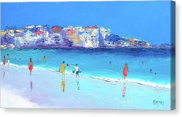 Summer At Bondi Canvas Print by Jan Matson