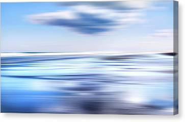 Summer Beach Blues Canvas Print by Bill Wakeley