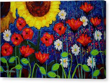 Summer Cluster Canvas Print by John  Nolan