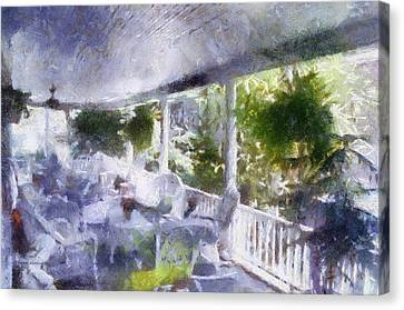 Summer Day On The Victorian Veranda Pa 02 Canvas Print by Thomas Woolworth