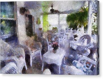 Summer Day On The Victorian Veranda Pa 03 Canvas Print by Thomas Woolworth