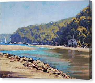 Summer Day Patonga  Canvas Print by Graham Gercken