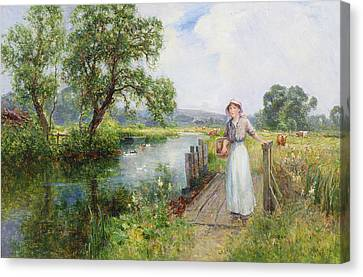 Summer Canvas Print by Ernest Walbourn