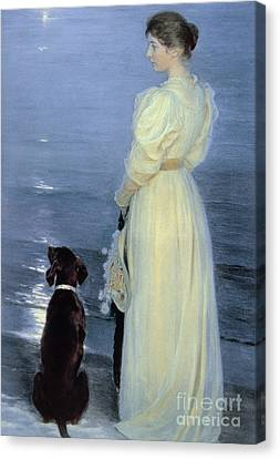 Summer Evening At Skagen Canvas Print by Peder Severin Kroyer