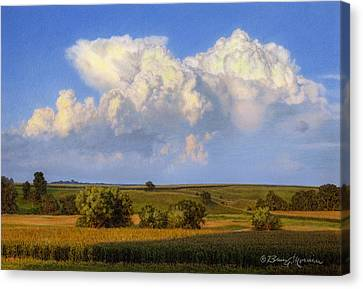 Summer Evening Formations Canvas Print by Bruce Morrison