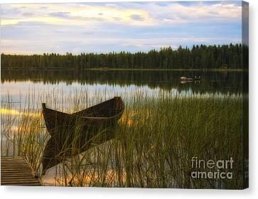 Summer Evening Peace Canvas Print by Veikko Suikkanen